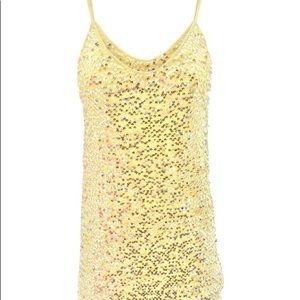 Calypso St. Barth Yellow Rakuen Sequin Dress